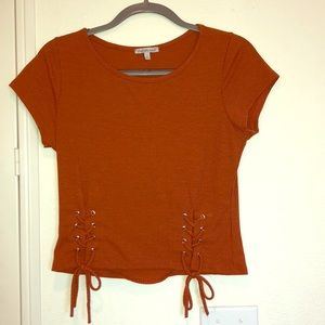 Charlotte Russe Lace Up Top
